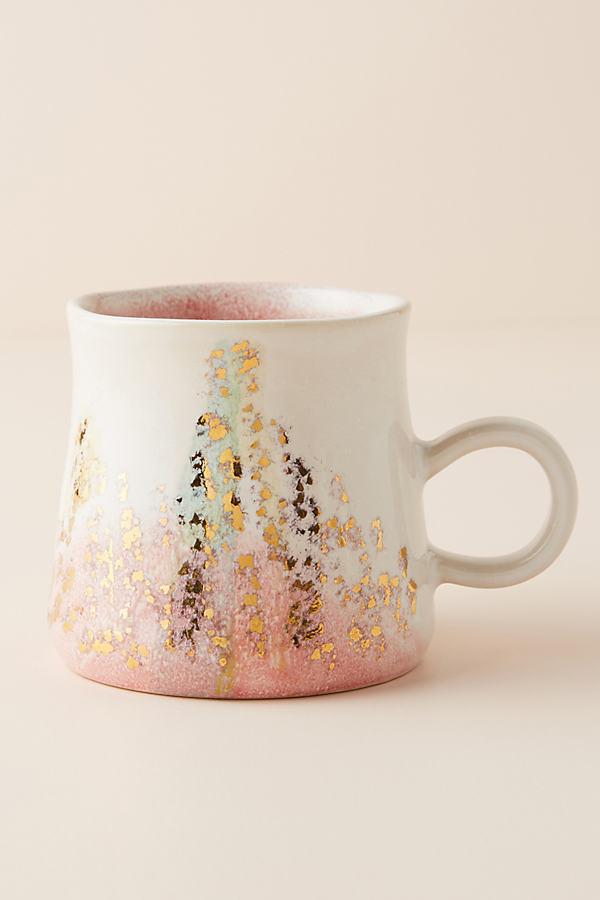 Gold Accent Mug - Pink, Size Mug
