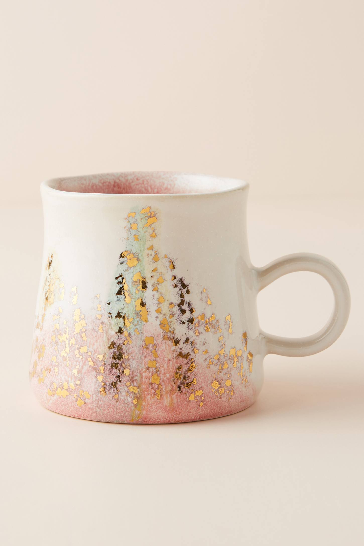 Slide View: 1: Gold Accent Mug