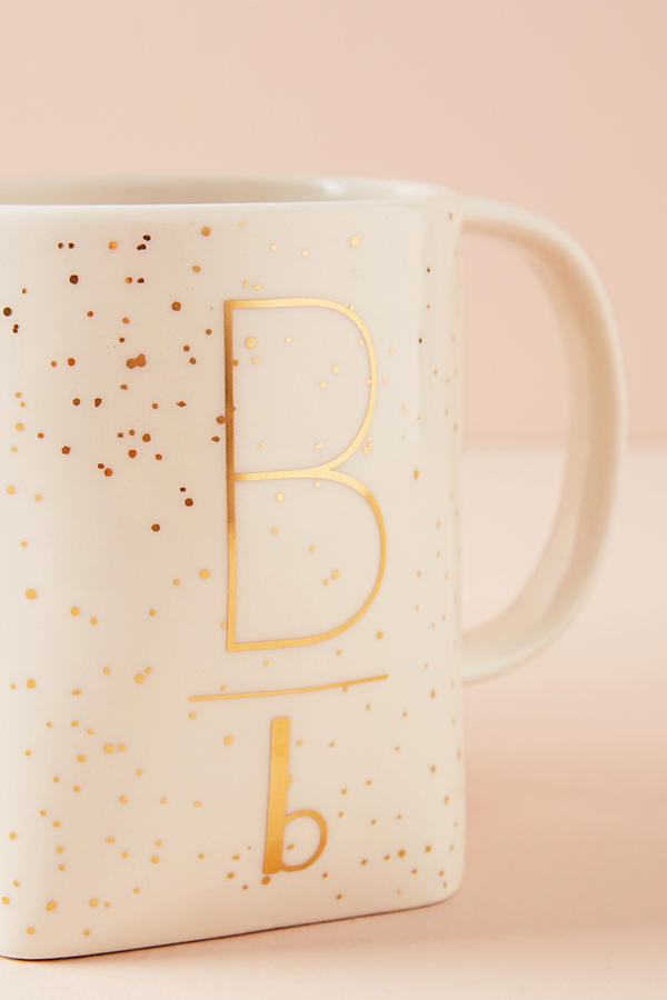 Slide View: 4: Gilded Shapes Monogram Mug