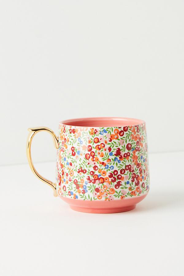 Liberty for Anthropologie Mug - Red Motif, Size Mug