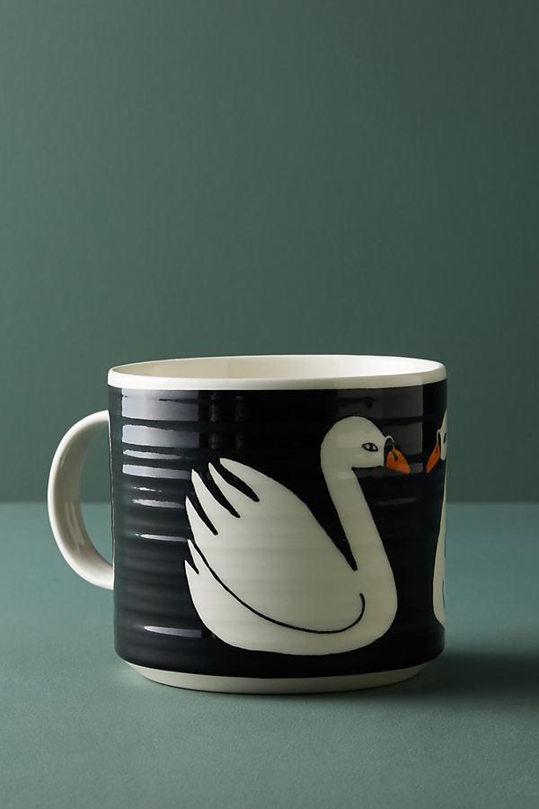 Keep Company Wildlife Mug - Black Motif, Size Mug