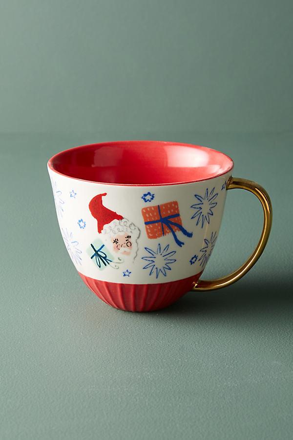 Holiday Spirit Mug - Red Motif, Size Mug