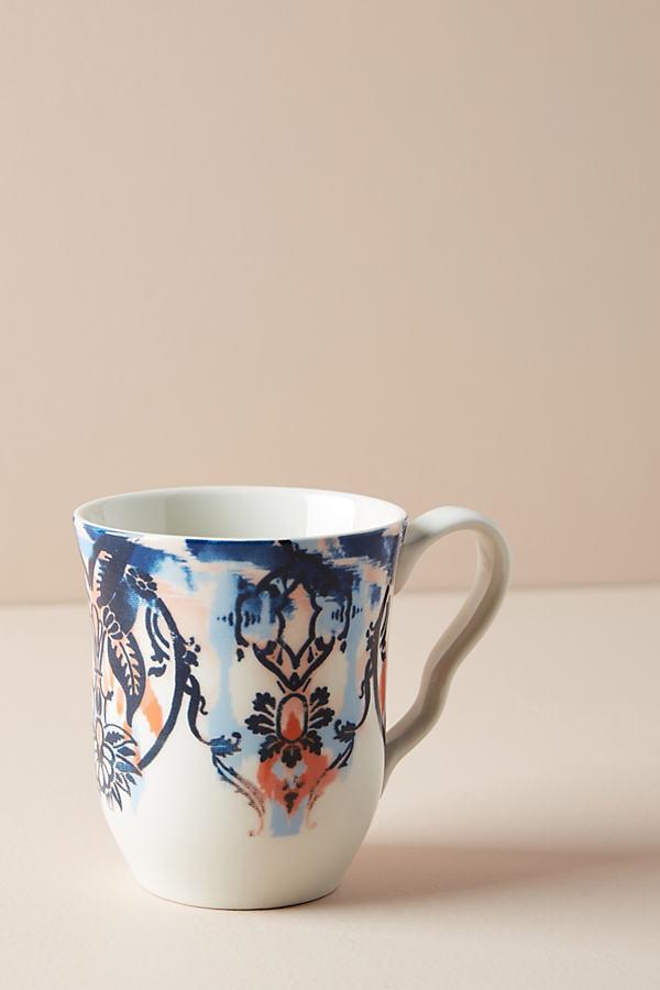 French Sapphire Mug - Blue Motif, Size Mug