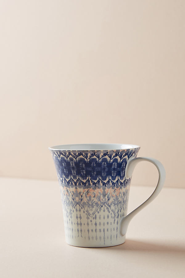 Simone Mug - Blue Motif, Size Mug