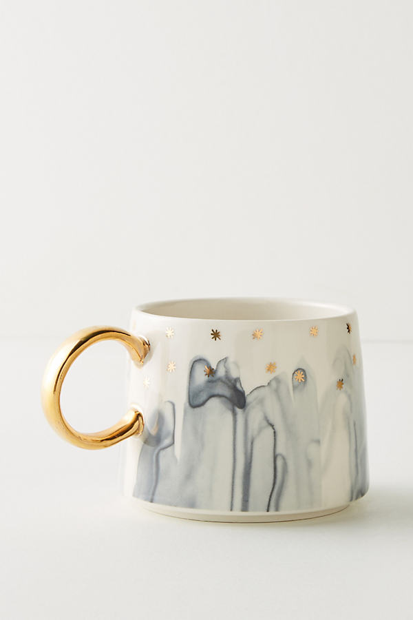 Night Sky Mug - Grey Motif, Size Mug