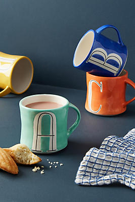 Slide View: 1: Colorway Monogram Mug