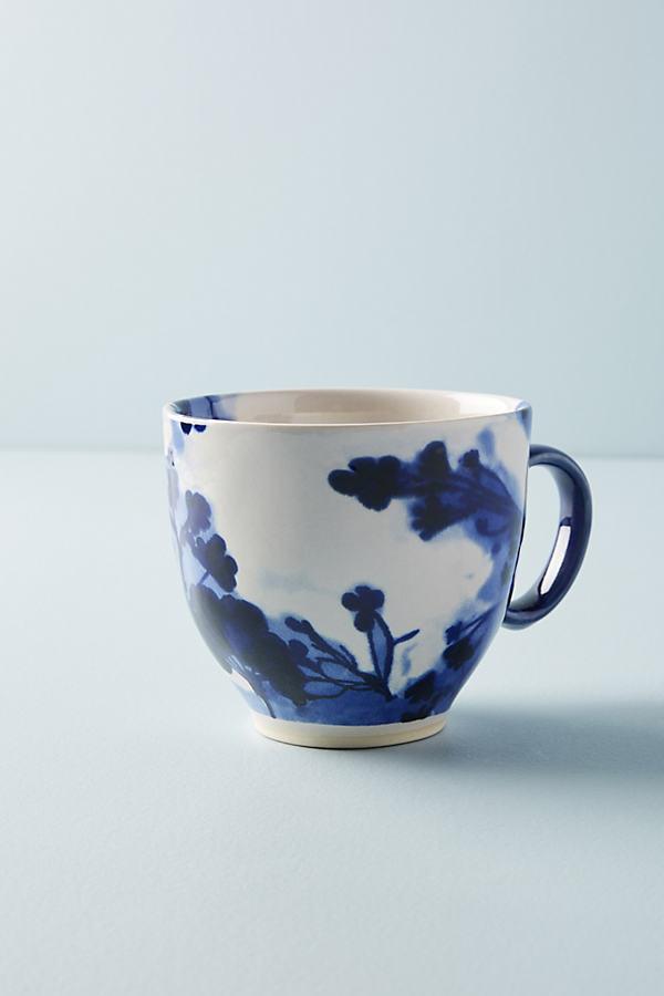 Portia Mug - Blue Motif, Size Mug