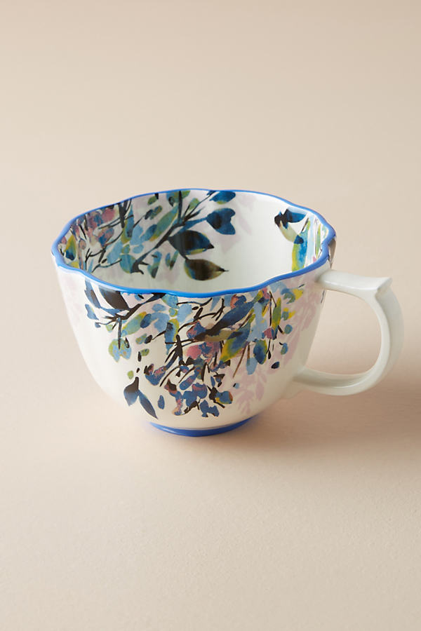 Gardenshire Teacup - Blue Motif, Size Mug