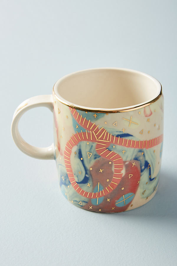 Ballarat Mug - Red Motif, Size Mug