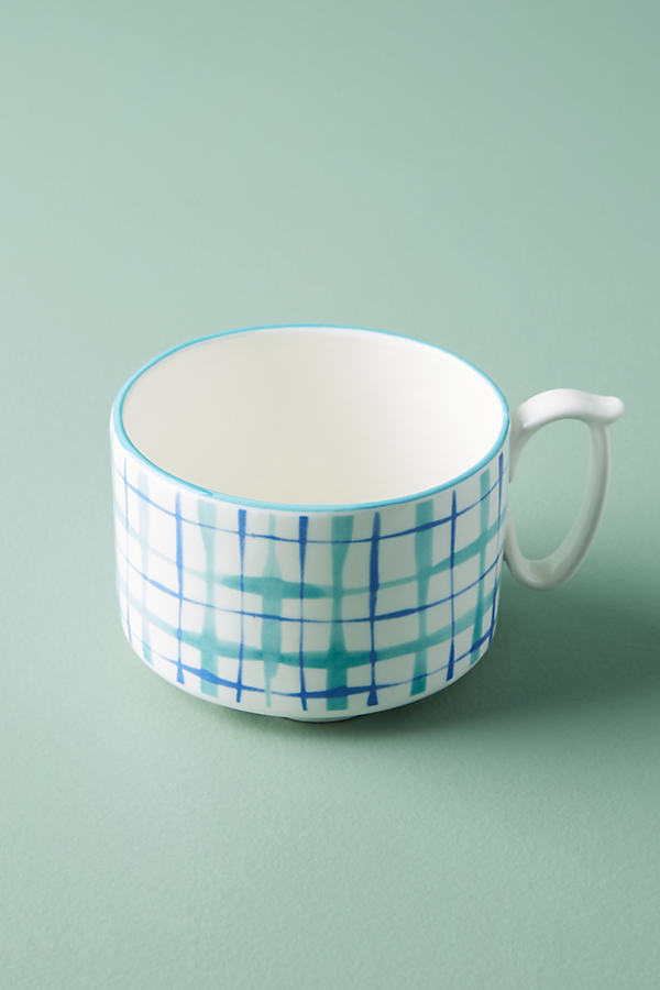 Hilde Plaid Mug - Blue Motif, Size Mug