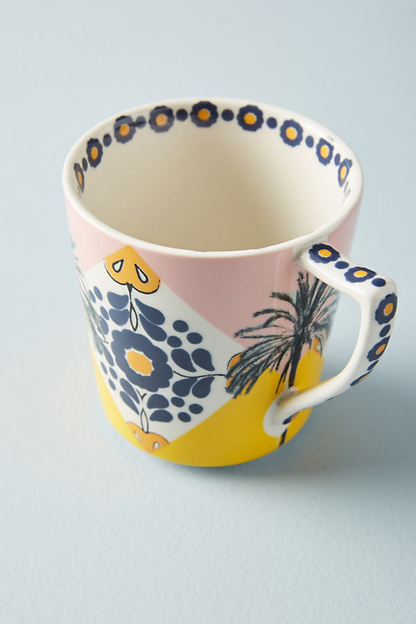 Narrative Mug - Yellow Motif, Size Mug