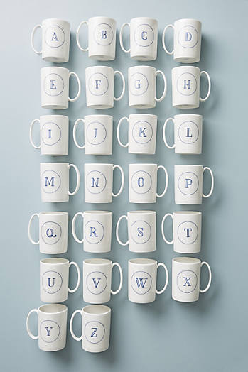 Slide View: 2: Modern Monogram Mug