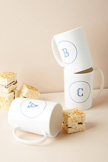Slide View: 1: Modern Monogram Mug