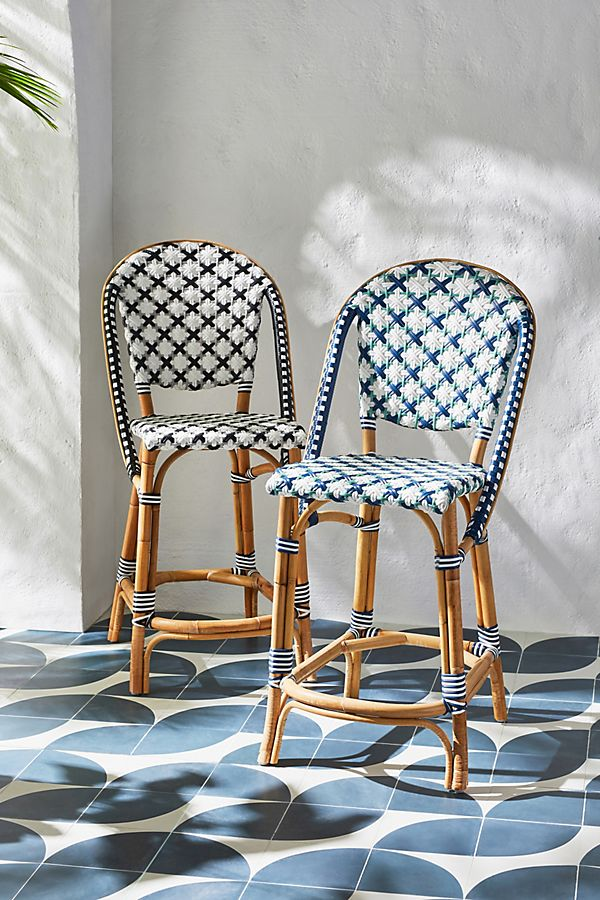 Slide View: 2: Woven Indoor/Outdoor Counter Stool