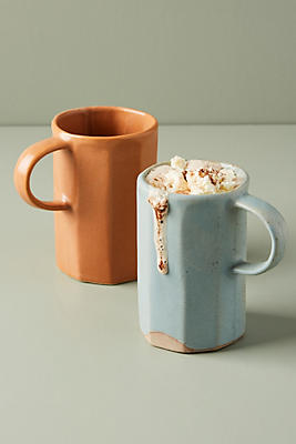 Slide View: 2: Faceted Ceramic Mug