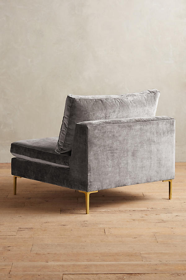 Slide View: 3: Slub Velvet Edlyn Chair