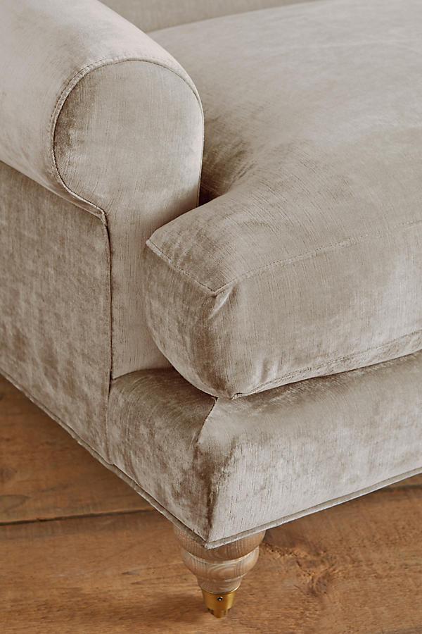 Slide View: 2: Slub Velvet Willoughby Grand Sofa, Wilcox