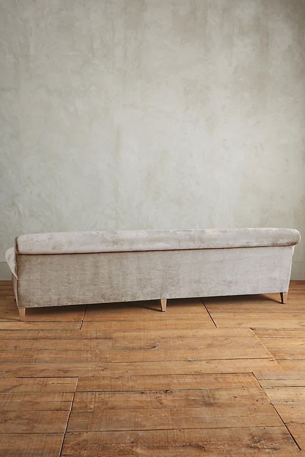 Slide View: 3: Slub Velvet Willoughby Grand Sofa, Wilcox