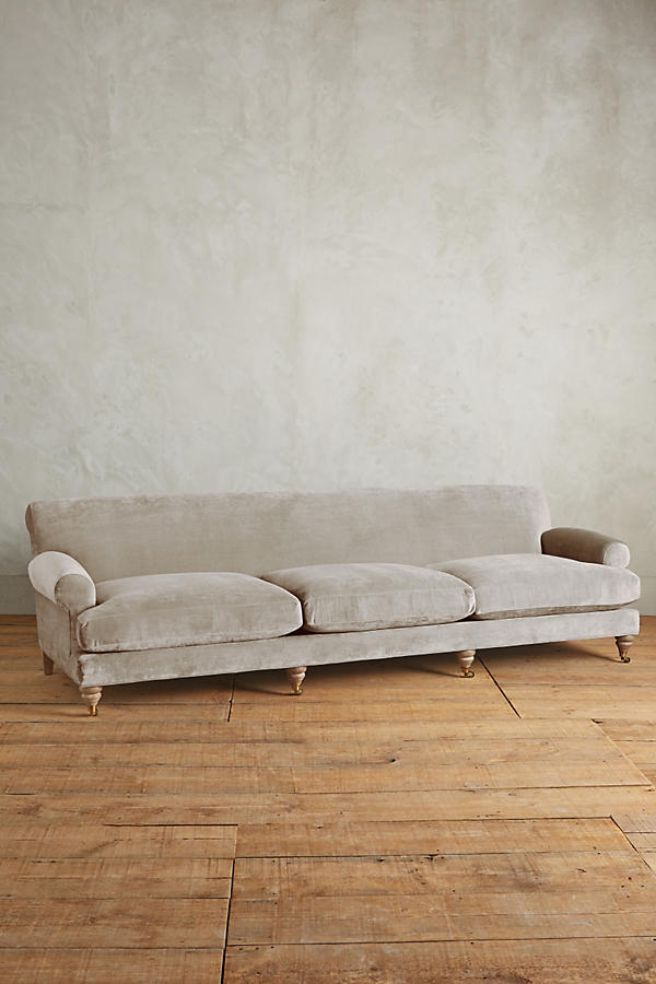 Slide View: 1: Slub Velvet Willoughby Grand Sofa, Wilcox