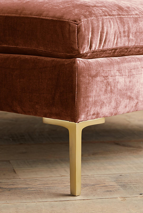 Slide View: 2: Slub Velvet Edlyn Grand Ottoman