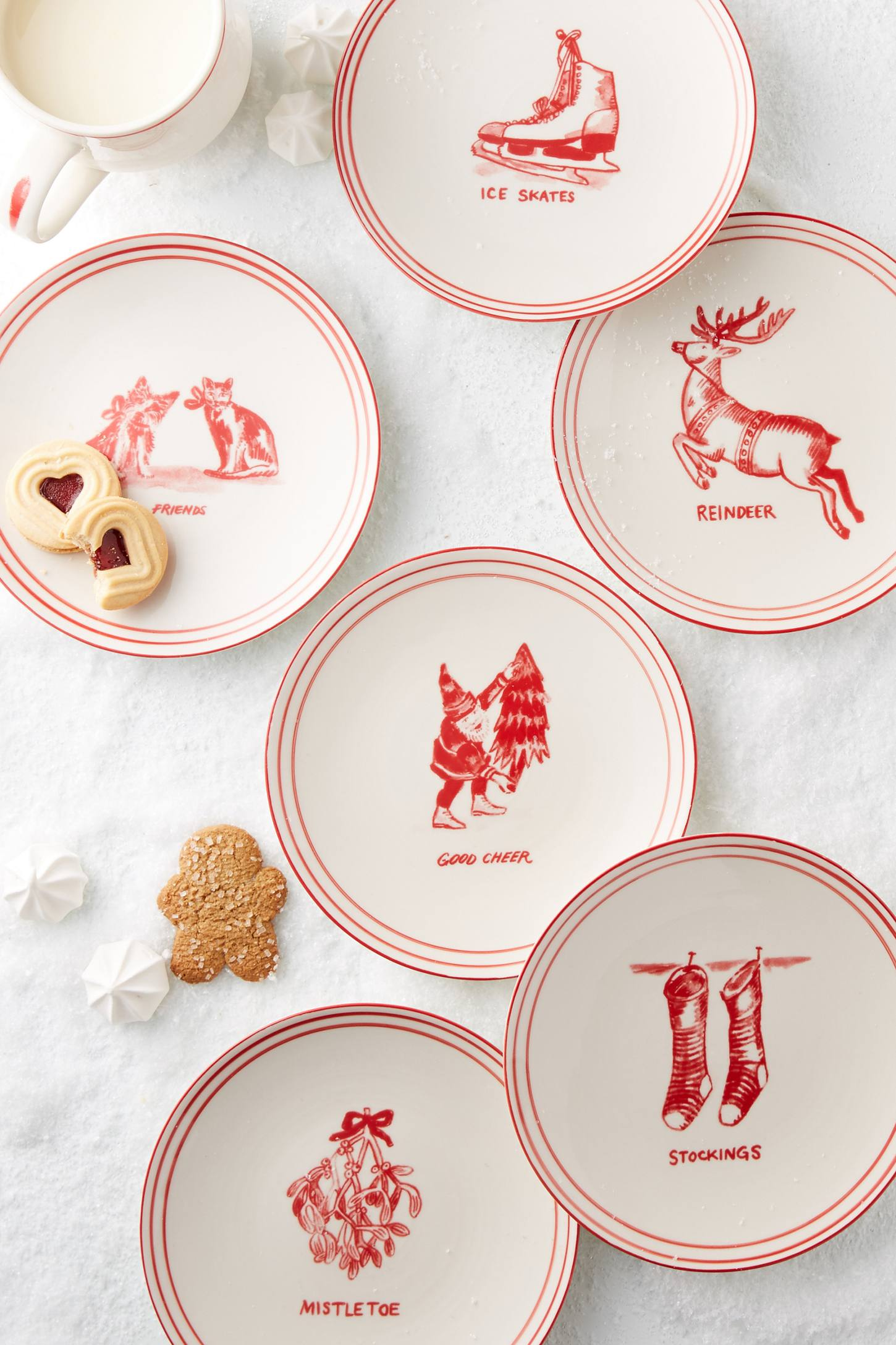 Holiday icon canape plate anthropologie for Christmas canape plates