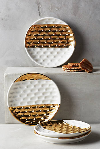 Plates dinnerware anthropologie for What is a canape plate
