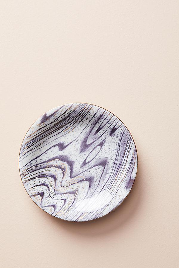 Woodgrain Canape Plate - Wine, Size Canape Pla