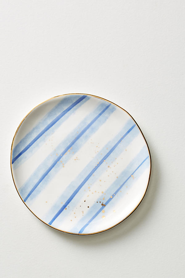 Mimira Canape Plate - Blue Motif, Size Canape Pla