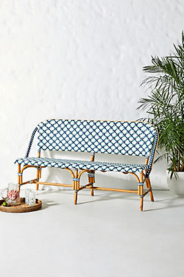 Slide View: 1: Woven Bistro Dining Bench