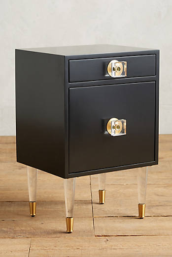 lacquered regency nightstand anthropologie style furniture