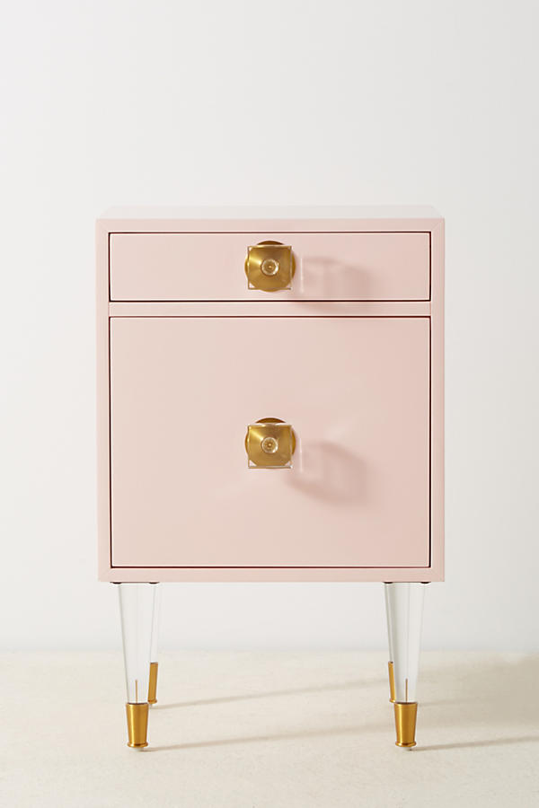 Slide View: 2: Lacquered Regency Nightstand