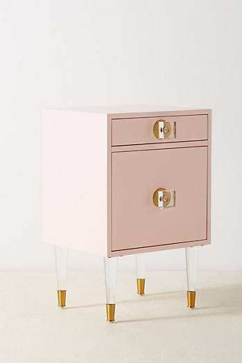 Slide View: 3: Lacquered Regency Nightstand