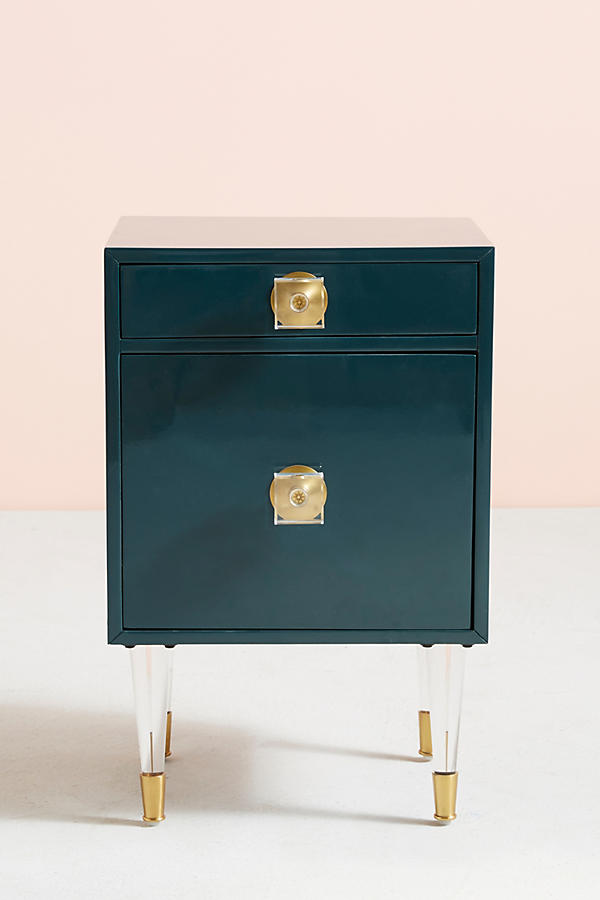 Slide View: 1: Lacquered Regency Nightstand