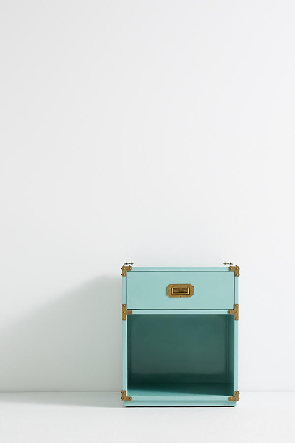 Slide View: 2: Lacquered Wellington Nightstand