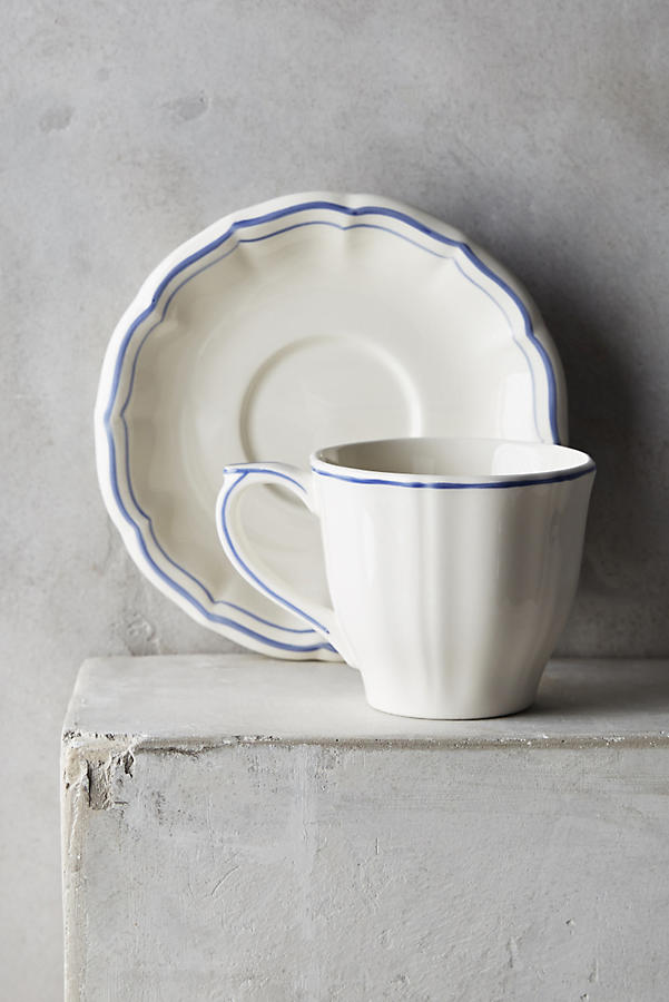 Gien Filet Bleu Cup & Saucer
