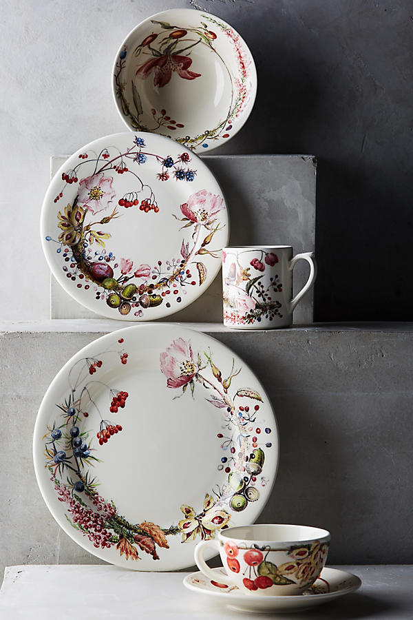 Slide View: 2: Gien Bouquet Cup & Saucer