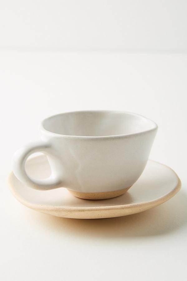 Organico Espresso Cup - Beige, Size Cup/saucer