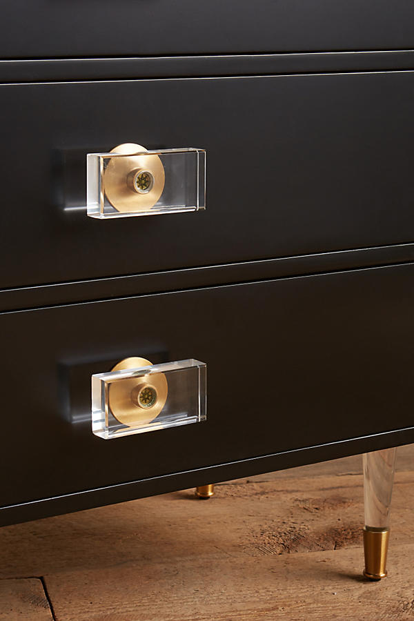 Slide View: 2: Lacquered Regency Three-Drawer Dresser