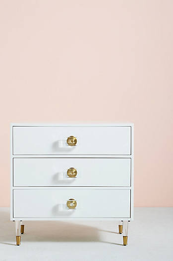 Slide View: 1: Lacquered Regency Three-Drawer Dresser