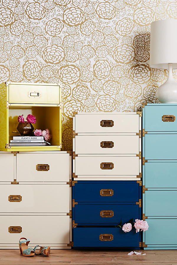 Slide View: 2: Lacquered Wellington Three-Drawer Dresser
