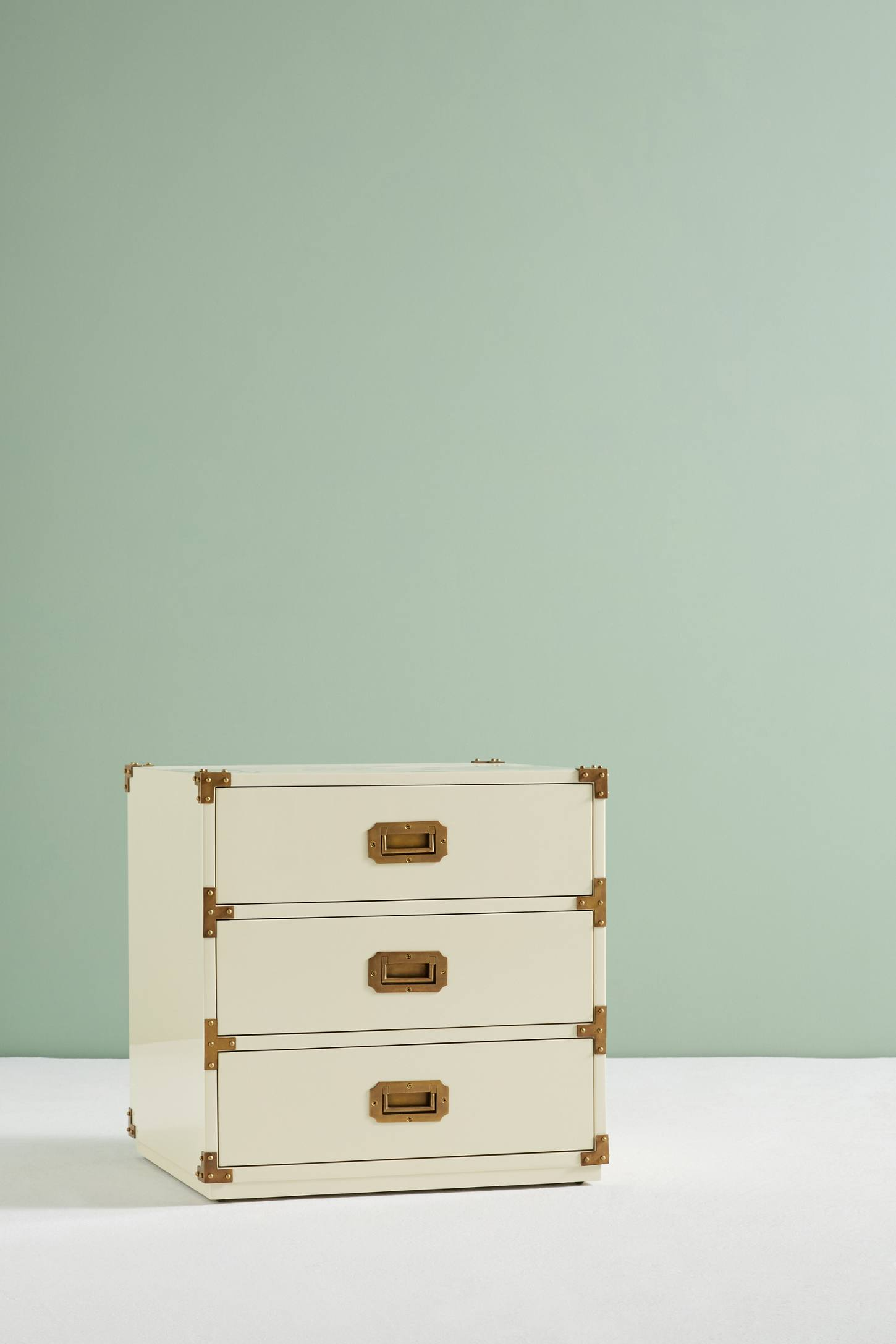 Slide View: 3: Lacquered Wellington Three-Drawer Dresser