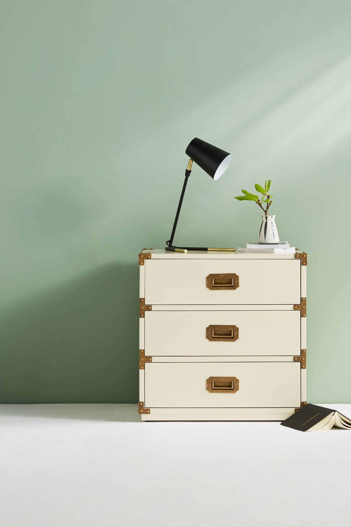 Slide View: 1: Lacquered Wellington Three-Drawer Dresser