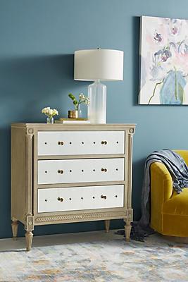 Slide View: 1: Mirelle Three-Drawer Dresser