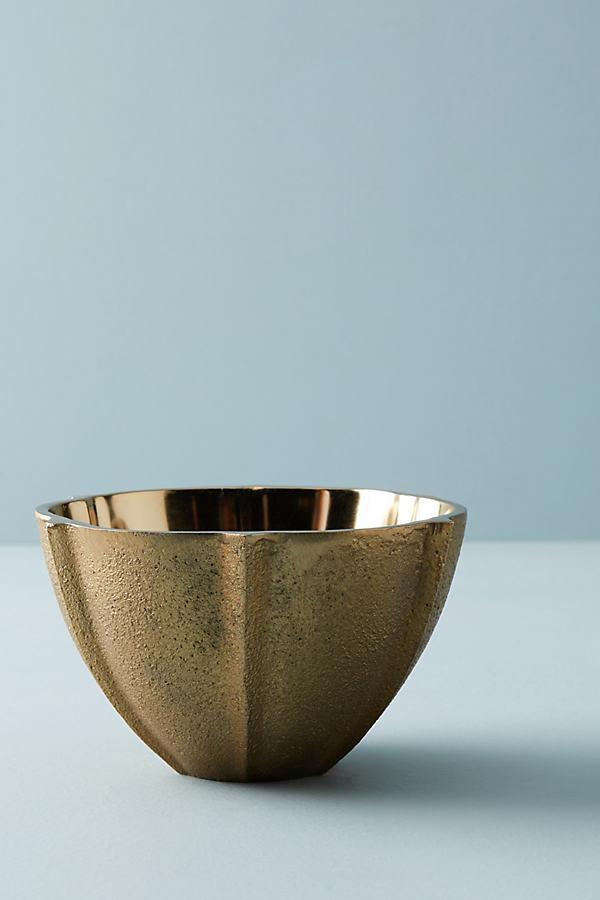 Cava Nut Bowl - Gold, Size Nut Bowl