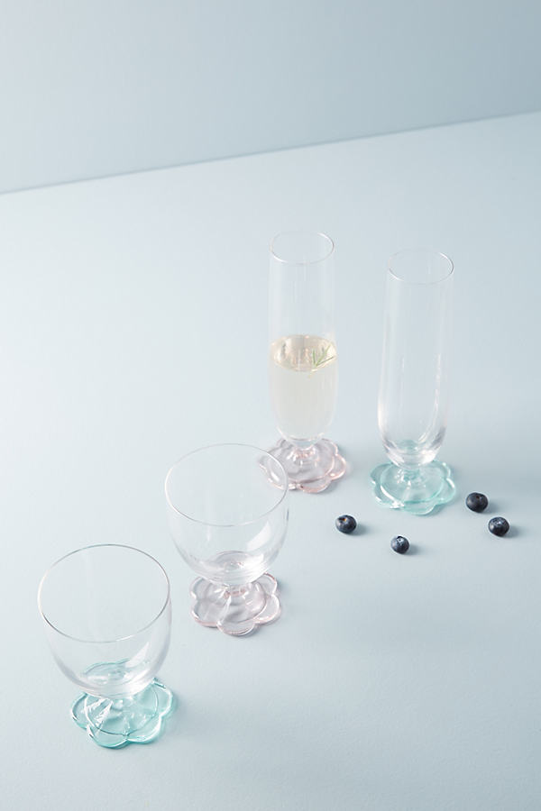 Delia Wine Glass - Pink, Size Red Wine