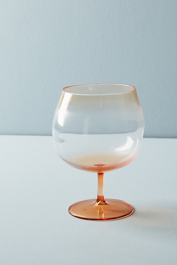 Aso Glass - Peach, Size Red Wine