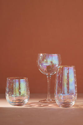 Slide View: 3: Lustered Wine Glasses, Set of 4