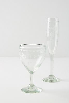 Slide View: 4: Agave Wine Glasses, Set of 4