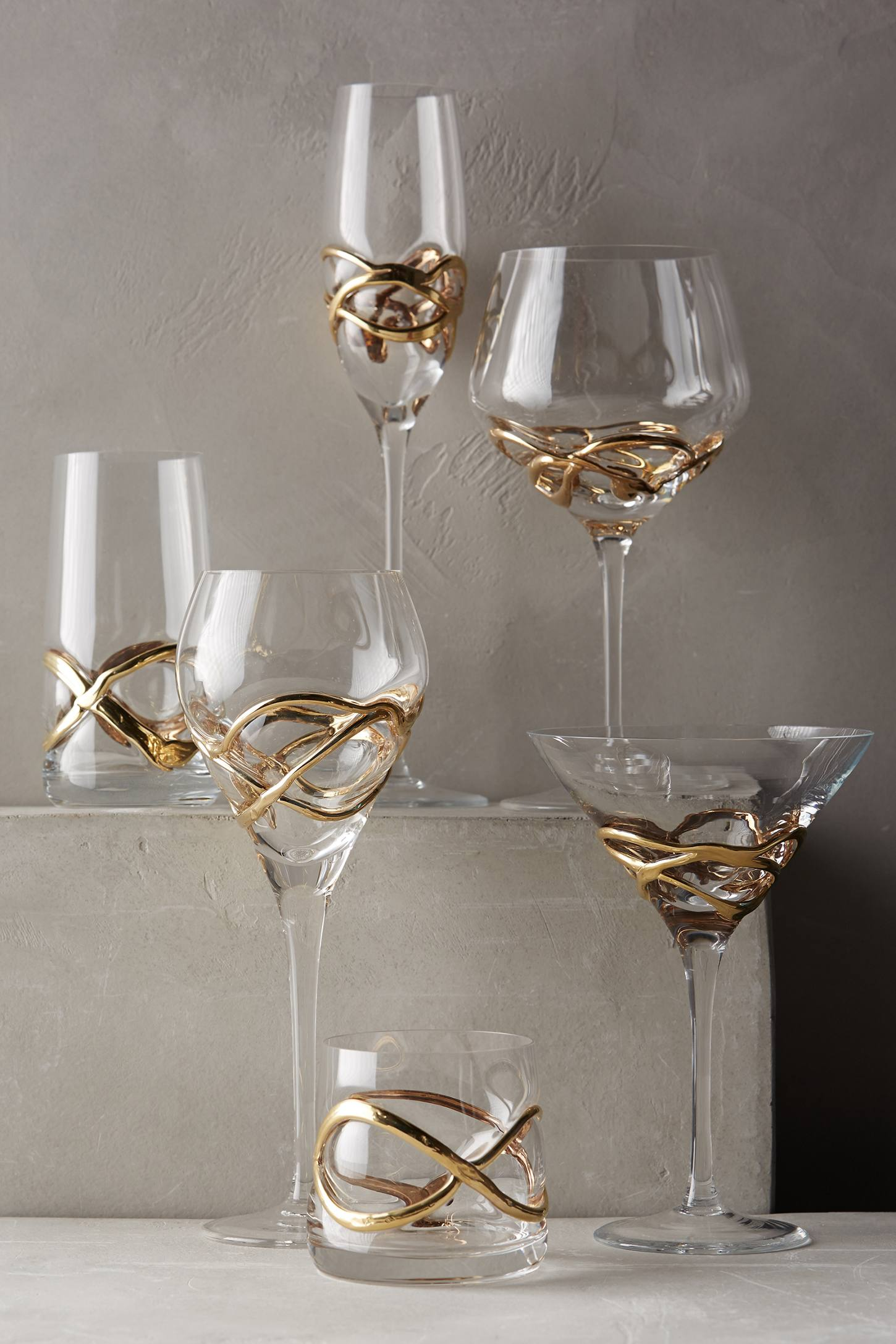 Slide View: 1: Glimmer-Wrapped White Wine Glass