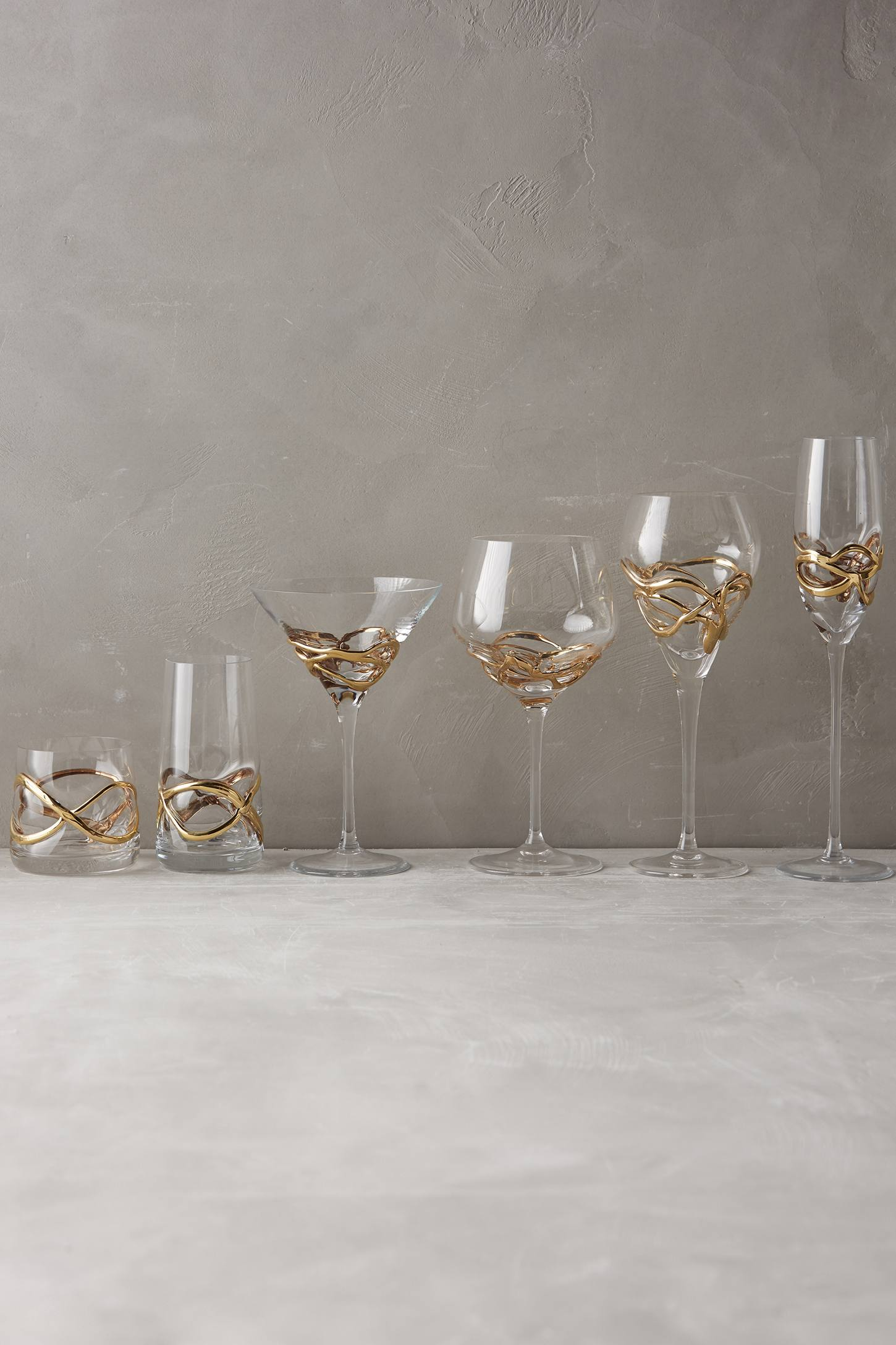 Slide View: 3: Glimmer-Wrapped White Wine Glass